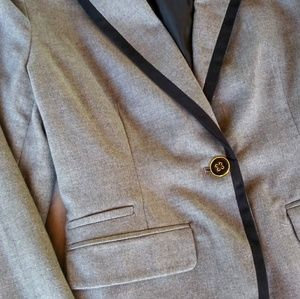 Grey Suit coat with small color accents NWT